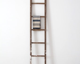 antique picking ladder, blanket ladder, wood ladder