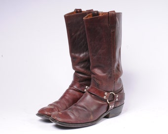 Motorcycle Boots 1960s Mens Size 9D HB18