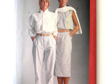 1980s Shirt, Skirt and Pants Pattern, Butterick 6119, Womens Esprit Sport Separates Sewing Pattern, Size 12-14-16, Bust 34 - 38, UNCUT FF