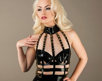 Latex Golden Cage Dress