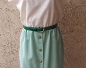 White and Teal Vintage Dress