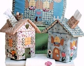 Sneezes Country Cottage Sewing Pattern Tissue Box Cover, Pillow, Guest Towel Collection