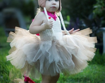 Complete Whole Outfit Crochet Hat Dress Handmade Horse Pony Baby Girls Tutu Costume set size 6 mos to 18mos Photo Prop Apple Jack MLP