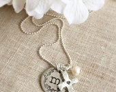 Name Necklace . Initial Necklace . Personalized Necklace . Cross Necklace . Initial Necklace . Personalized Jewelry . Faith Jewelry