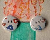 Togepi Pokemon One Inch Pin Button Set