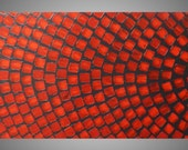 Large Painting on Canvas Abstract Art Grey Red Acrylic Painting 72 x 24 large canvas art Paintings Wall Art Squares Made to Order by ilonka
