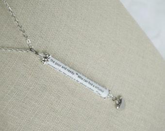 Proverbs 31 - Scripture Necklace - A virtuous woman - Bible Verse Pendant