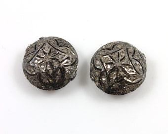 Diamond Round Flat Pave Bead , 1 Piece 15x15 mm , Designer Pave Diamond, Pave Diamond Jewelry,  Sterling Silver Pave Bead.(DF/BD30)