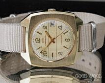 vintage bulova caravelle watch - 1974 - transistorized - eta 9154 dynotron