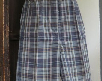 Vintage Madras Bermuda Shorts