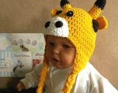 Baby Beanie, Crochet Toddlers Giraffe Beanie , Crochet Newborn Beanie, Baby Photo Prop Hat, Wool Crochet Hat, Dress Up, Australia