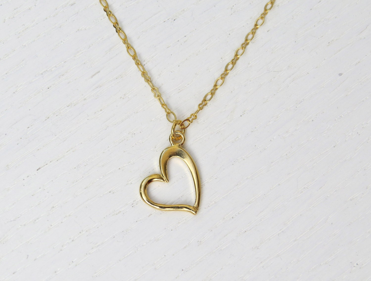 summer sale simple heart necklace gold heart necklace