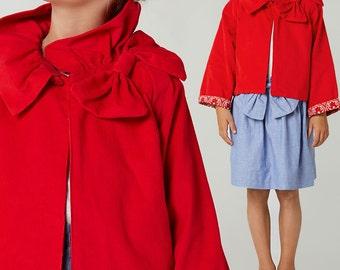 Childrens sewing pattern pdf, Girls sewing pattern pdf,  jacket sewing pattern, winter sewing pattern, coat pattern, kids RUFFLE JACKET