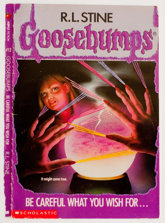 Embroidered Book Cover - Goosebumps: Be Careful What You Wish For ...