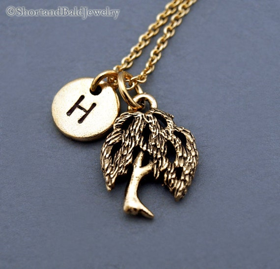 Willow Tree Necklace Gold Willow Tree Willow Tree Jewelry