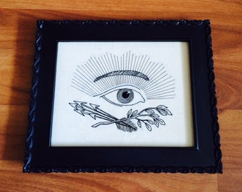 Hand-Embroidered All-Seeing Eye
