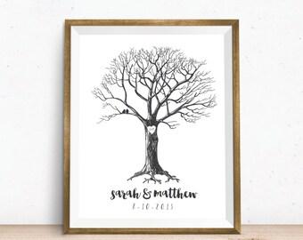 Tree Art Print. New Couple Wedding Gift. Custom Tree Art Print. Wedding Tree Print. Custom Tree print. Personalized Tree Wedding Gift.