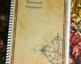 PASSWORD Book Internet Journal Website Organizer Personalized Gift Time