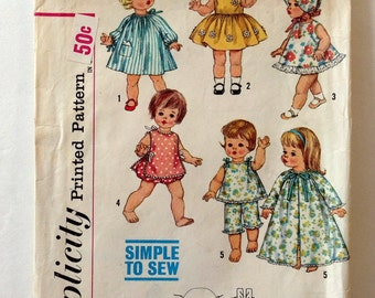 toni and haircut doll sewing pattern butterick bp268 reproduction 18 inch 4839