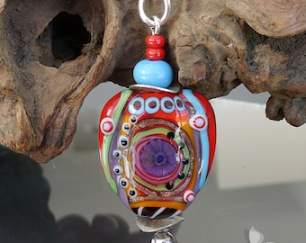 Lampwork bead pendant --  made by silke -- artisan glass -- Statement
