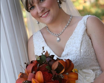 Fall Theme Lily Bridal Bouquet
