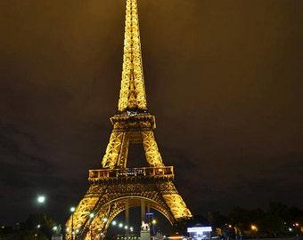 Eiffel Tower lit up at night, Paris Photography, Paris Art, Paris decor, Paris Print, Effiel Tower Art, Eiffel Tower Photography
