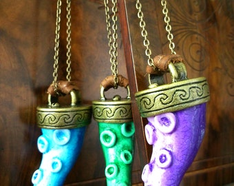 Tentacle Necklace - Blue, Green or Purple