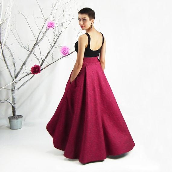 maxi skirt high low skirt high waisted skirt plus size