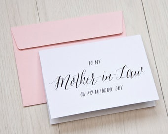 mother of groom card - mother-in-law card - mom-in-law card - new in-law card - bridal party card - wedding thank you card -
