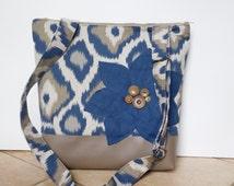 Blue And Tan Shoulder Bag 17