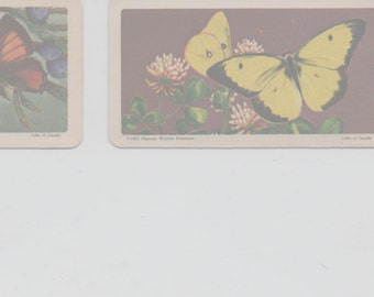 Lot of 3 Red Rose/Brooke Bond Tea Cards, Butterflies of North America, good shape, 1965