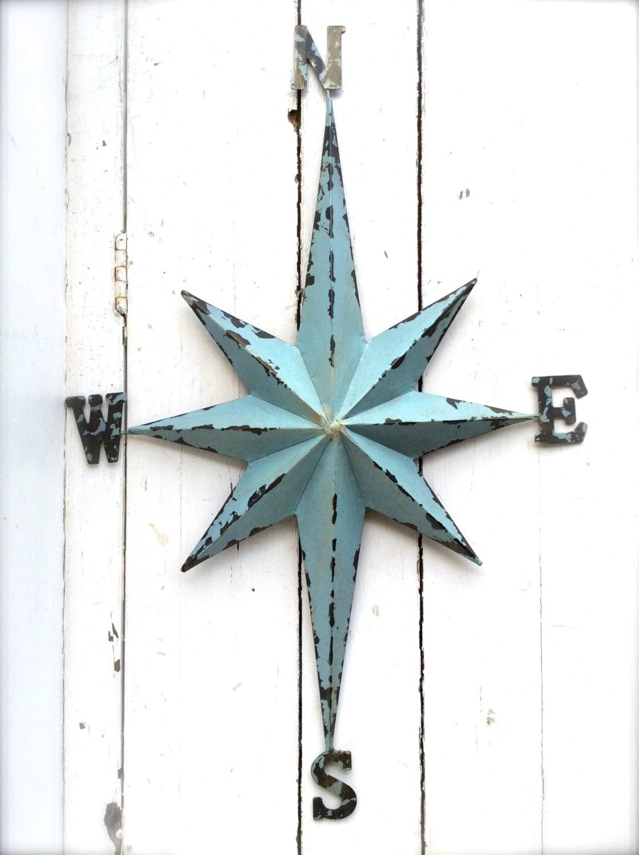 Nautical Compass Wall Decor : Nautical wall art metal compass