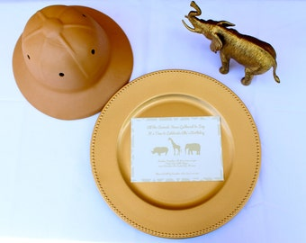 Modern Safari or Zoo Birthday Party Invitation