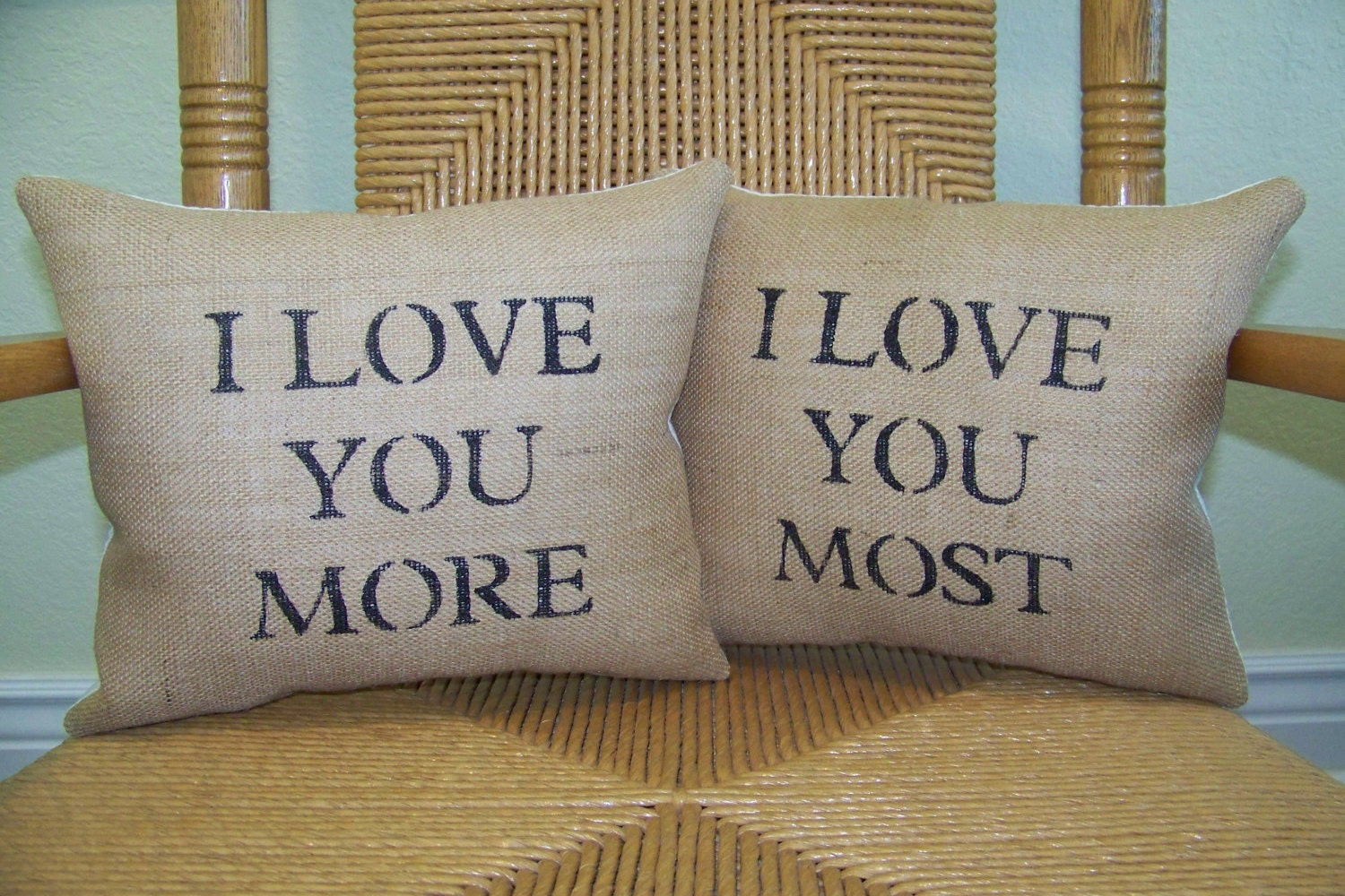I Love You More I Love You Most pillow Valentines gift