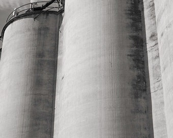 Silos, Alameda: A Black and White Photograph 10x15