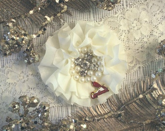 CUSTOMIZED St. Louis Cardinals Wedding Garter | Bridal Garter Set | Bling Wedding Garter | Crystal Garter