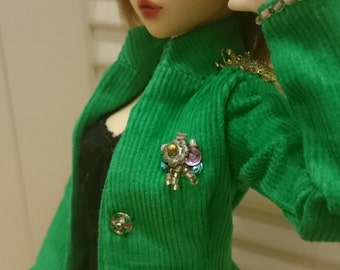 Green. MSD. Military style Jacket.