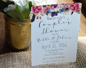 FLORAL Couple's Shower Invitations #1