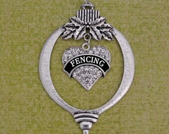 Fencing Heart Ornament