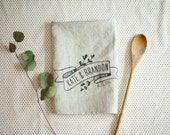 Personalized Kitchen Tea Towel,  Handmade Pre-Washed Linen Napkins, Wedding, Anniversary, Bridal Shower, Christmas, Holidays Gift, #T002
