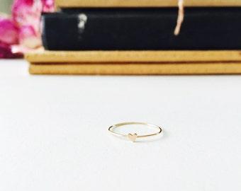 Teeny Tiny Heart Ring