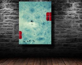 "oil painting, modern art, ""Light in the window"", canvas art, paintings on canvas, wall art, painting, abstract painting, wall painting, art"