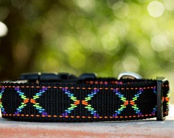 Black Geometric Dog Collar