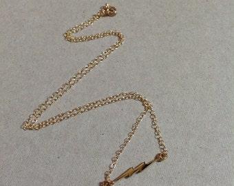 Gold Lightning Necklace