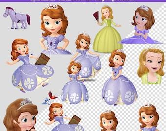 34 PNG Images Sophia Princess-High Resolution-Instant Download