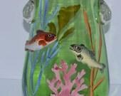 Moser Aquatic Vase / Fish Vase / Moser Art Glass / 1900s Glass Vase / Bohemian Glass
