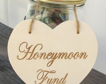Honeymoon fund sign | Etsy