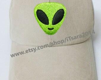 Green Alien Baseball Cap