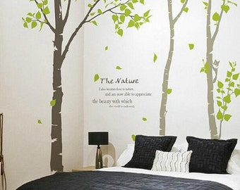 Birch Wall Decal Etsy - Vinyl wall decals removable