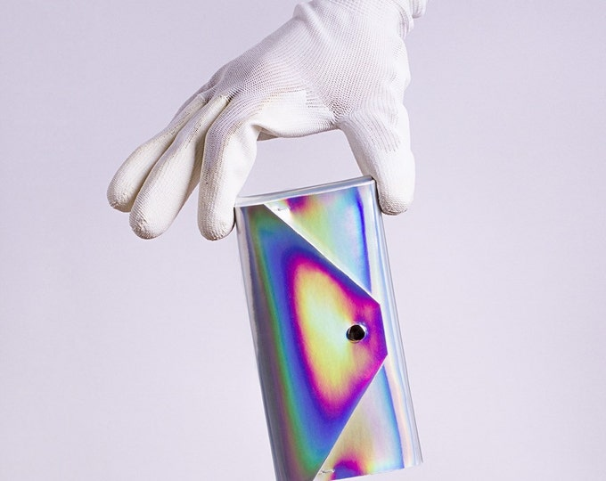 silver holographic phone case for iPhone, HTC, Samsung Galaxy, Sony Xperia